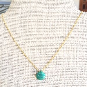 Amazonite briolette necklace gold filled chain